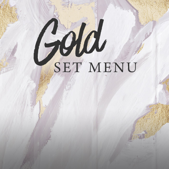 Gold set menu at The Ferry