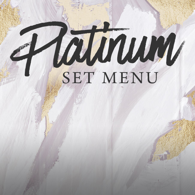 Platinum set menu at The Ferry